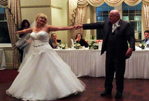 Vickie and Gary's bridal dance performed by Nightshift band